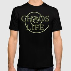 ChaosLife: The Print Mens Fitted Tee Black MEDIUM