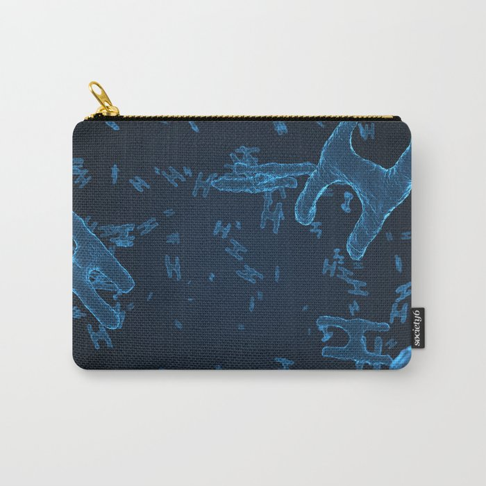 Abstract blue virus cells Carry-All Pouch