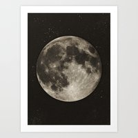 type Art Prints featuring The Moon  [Sans Type] by Heather Landis