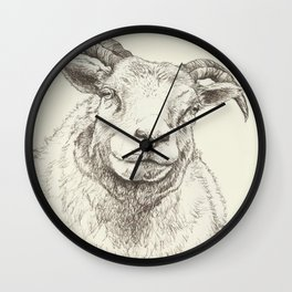 The Good Sheep Wall Clock