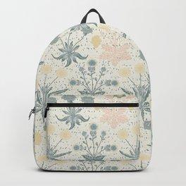 Vintage Floral & Plants Pattern Backpack