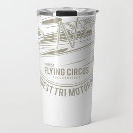 Aeroplane Rides Flying Circus Travel Mug