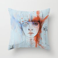 persona Throw Pillows featuring Persona sin fin by DizzyNicky