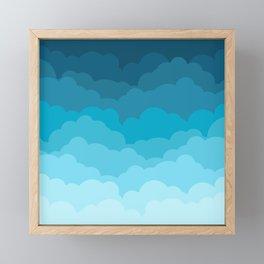 Gradient Clouds Framed Mini Art Print