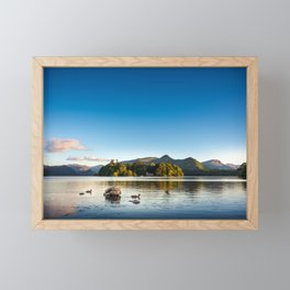 Ducks on Lake Derewentwater near Keswick, England Framed Mini Art Print