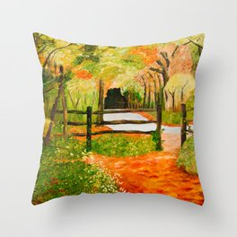 Newtown Creek Copse Throw Pillow