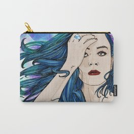 The blue hair girl Carry-All Pouch