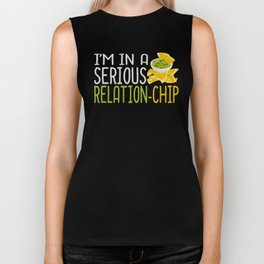 Im in a Serious Relation Chip Valentine Love Food Pun Romantic Chips Biker Tank