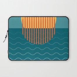 Minimalist Sunset Over Ocean, Travel Print, Sun Set Poster, Large Printable Photography, Wall Art Laptop Sleeve
