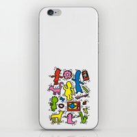 keith haring iPhone & iPod Skins featuring Keith Haring & Simpsons by le.duc