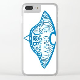 Village Crazy Lady Clear iPhone Case