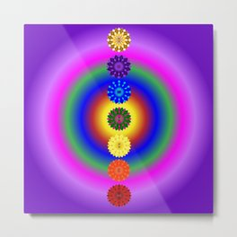 Align your energy centres Metal Print