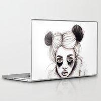 red panda Laptop & iPad Skins featuring Panda by Nora Bisi
