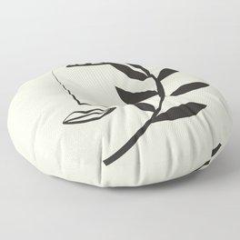 Abstract Face 7a Floor Pillow