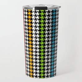 Houndstooth pattern and colorful stripes Travel Mug