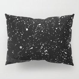 Moon Rising in the dark Black and White Pillow Sham