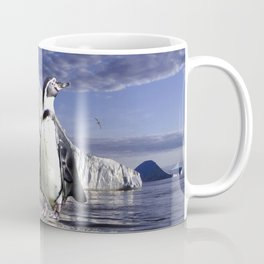 Penguins and Glacier Coffee Mug