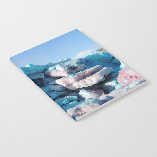 Having Fun in the Winter - Colored Snow #1 #art #society6 Notebook