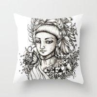 fairy Throw Pillows featuring Fairy by Anca Chelaru