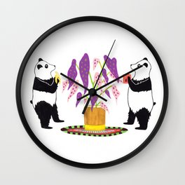 Sacred Begonia Wall Clock