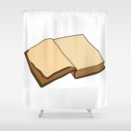 Open Book Shower Curtain