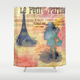 Shopping in Paris Shower Curtain