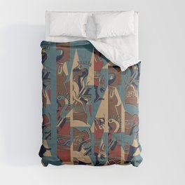 Blue Pots By Danae Anastasiou Comforters