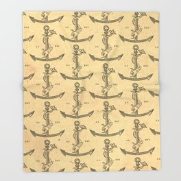 Aldus Manutius Printer Mark Throw Blanket