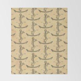 Aldus Manutius Printer Mark Throw Blanket