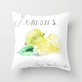 lemons Throw Pillow