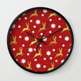 Reindeers in the Snow Wall Clock