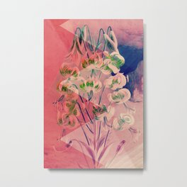 Floreal - Blush Pastel Tropical Flowers Daydream Metal Print