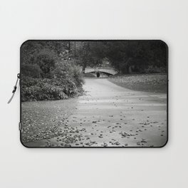 Black and white path Laptop Sleeve