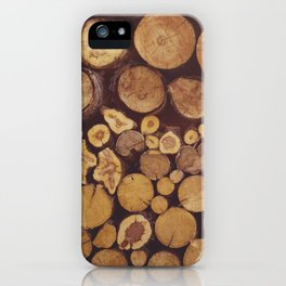pile of wood iPhone Case