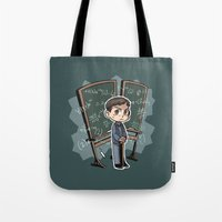 pacific rim Tote Bags featuring Pacific Rim - Handwriting of God by feriowind
