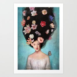 The Botanist's Daughter Art Print