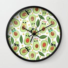 Stylish Avocados Wall Clock