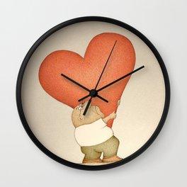 Heavy Heart (Retro version) Wall Clock