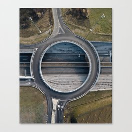 Elevated roundabout Canvas Print
