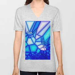 Glowing blue Unisex V-Neck