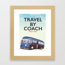 Travel By Coach Framed Art Print