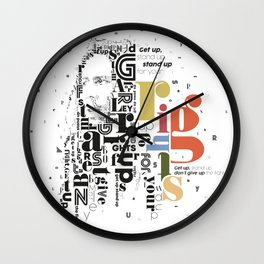 Marley get up stand up don't give up the fight Wall Clock