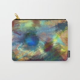 Vibrant Colored Abstract Painting Carry-All Pouch