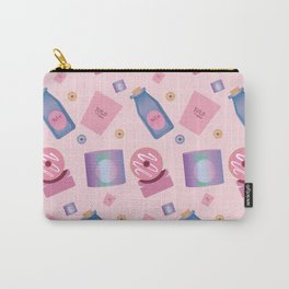 pink purple blue drinks and food pattern Carry-All Pouch