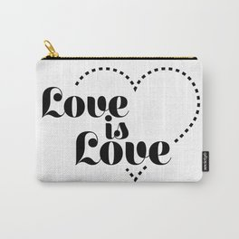 love is dash black lettering Carry-All Pouch