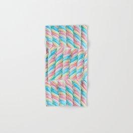Pastel Candy Sticks Hand & Bath Towel