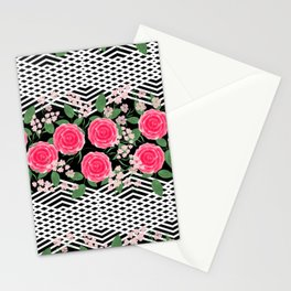 Pink roses. Stationery Cards