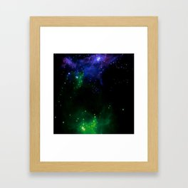 The Cosmos (blue and green) Framed Art Print