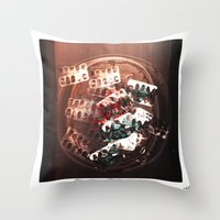 pills Throw Pillows featuring Pills by Emmi Eriksson