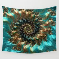 supreme Wall Tapestries featuring Aqua Supreme by Steve Purnell
